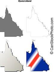 Queensland blank detailed outline map set - Queensland blank...