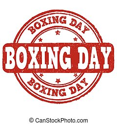 Boxing day stamp