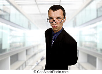 distorted - young distorted business man at the office