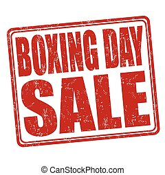 Boxing day stamp - Boxing day grunge rubber stamp on white...