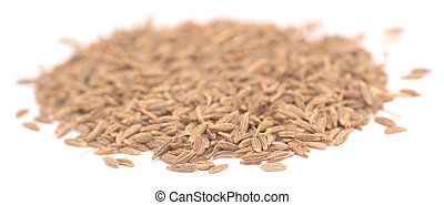 cumin grain isolated on white background