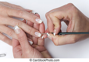 manicure - beautiful hands is getting a perfect manicure