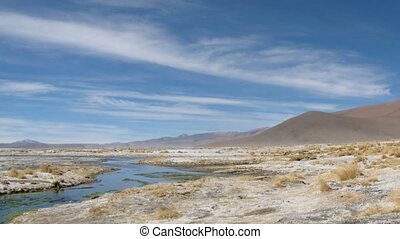 Hot springs time lapse - Hot springs , Altiplano, Bolivia