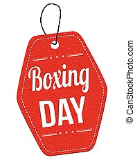 Boxing day label or price tag - Boxing day red leather label...
