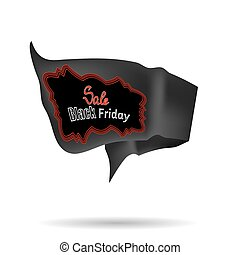 Black Friday Sale Banner Isolated on White Background