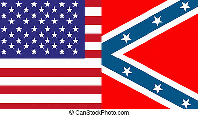 usa and confederate flag - Illustration of an united states...