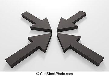 Black arrows
