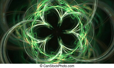 abstract fractal generated animation - Fractal generated...