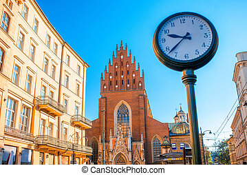 Holy Trinity church in Krakow - View on Holy Trinity church...