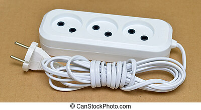 extender electric white - Plugged in electric devices in an...