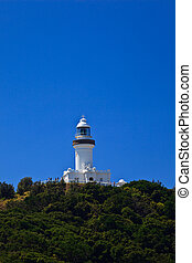 Sunny View of Byron Bay Lighthouse on Hill