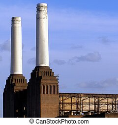 London Battersea powerstation, a landmark abandoned factory