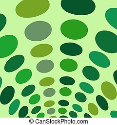 Arch green circles abstract vector background
