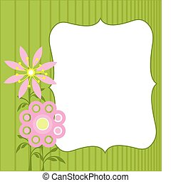 Spring Flowers - Spring background with flowers. Space for...