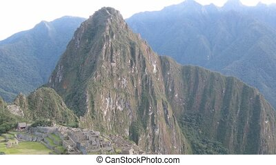 Machu Picchu city sunrise time lapse - Machu picchu city...