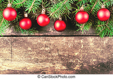 Christmas vintage backgrounds - Branches of a Christmas tree...