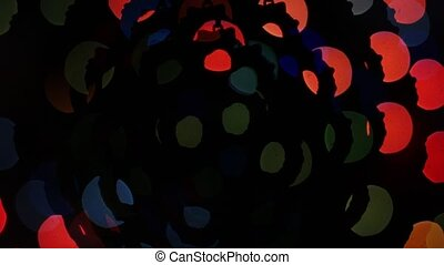 Abstract lights bokeh on black background Shape - Abstract...