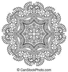 Round Ornament Pattern. - Mandala. Round Ornament Pattern....