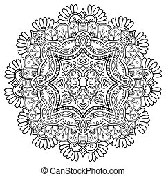 Round Ornament Pattern - Mandala Round Ornament Pattern...