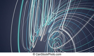 Fantastic video animation with stripe object in motion, loop...