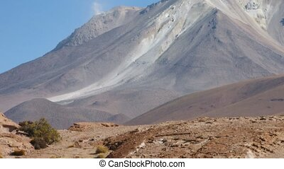 Volcan Ollague time lapse - Volcan Ollague, Altiplano ,...