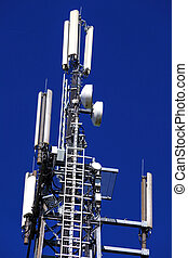 german mobilfunkmast - a transmission tower for mobile and...