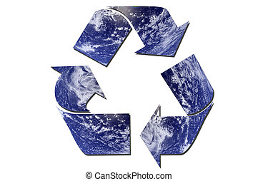 Ecological recycle sign