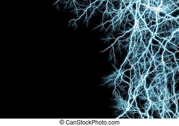 Blue lightnings