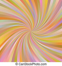 Orange abstract multicolor spiral ray background - Orange...