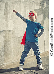 Superman - Little boy dressed as superman