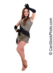 Latino dancer woman posing - Latino dancer woman posing...