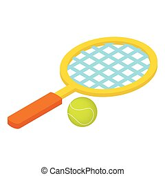 Tennis game isometric 3d icon