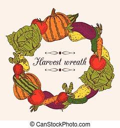 Colorful Vegetables Frame