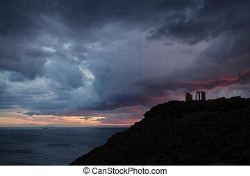 Templo, de, Poseidon,