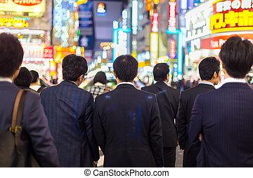 Businessmen in Shinjuku, Tokyo, Japan. - Japanese...
