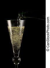 champagne - new year with a glas of champagne