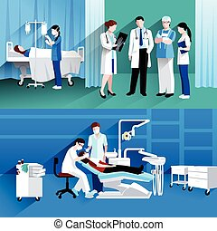 Doctor and nurse 2 medical banners - Medical specialists...
