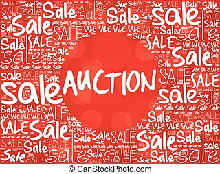 AUCTION word cloud background, business concept