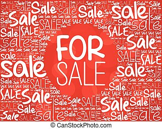 FOR SALE word cloud background