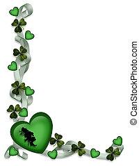 St Patricks Day Card Border - 3D Illustration for St...