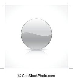 Round silver button