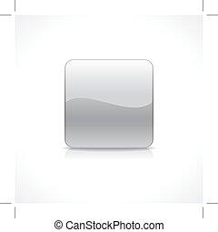 Square silver button