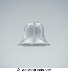 Silver bell. Vector Illustration