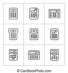 Set line icons of calculator