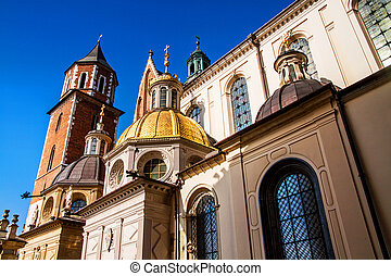 Wawel hill with cathedral in Krakow - Wawel hill with...