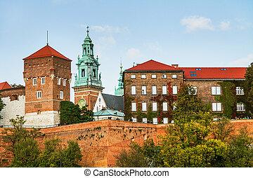 Wawel hill with castle in Krakow - Wawel hill with...