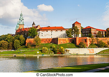 Wawel hill with castle in Krakow - Wawel hill with...