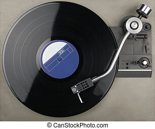 Record player - closeup of record player with phonorecord...