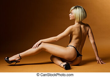 erotic - beautiful blond woman
