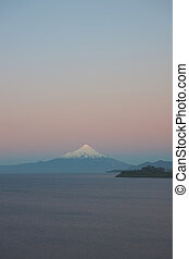 Volcano Osorno at Sunset - Sunset over Snow capped Volcano...